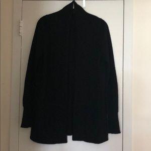 J.Crew black cashmere open cardigan. S.